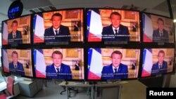 Francuski predsjednik Emmanuel Macron u televizijskom obraćanju, 13. april
