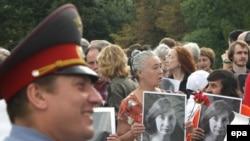 Митинг памяти Натальи Эстемировой в Москве, 23 июля 2009 года
