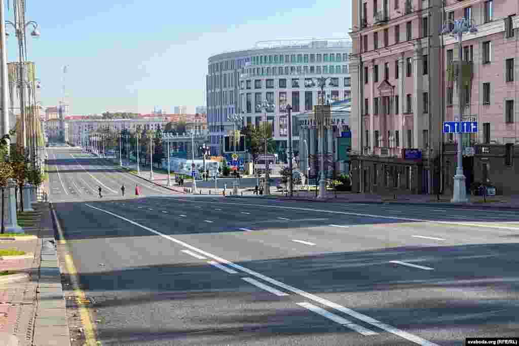 Проспект Независимости был закрыт для движения транспорта