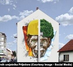 """""""Worker"""", jedan od prijedloga pristiglih na konkurs za najbolji mural u Prijedoru"""