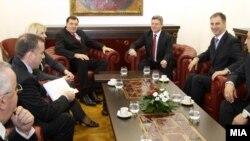 Средба на претседателот Ѓорге Иванов со претседателот на Република Српска Милорад Додик