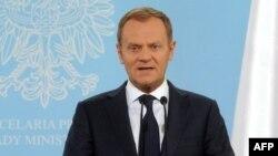 Польша премьер-министрі Дональд Туск. Варшава, 30 мамыр 2012 жыл.