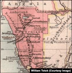 Africa germană de sud-vest – hartă contemporană