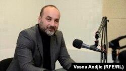Saša Janković u studiju Radija Slobodna Evropa