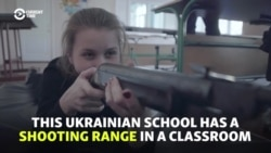 'Future Warriors': Ukrainian Students Schooled On Warfare