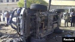 في موقع احد انفجارات 13 حزيران في بغداد