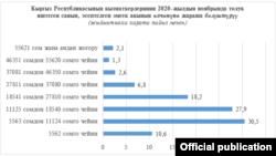 Улуттук статистика комитетинин инфографикасы.