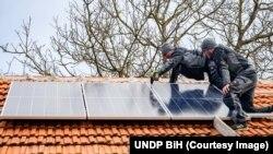 Solarni paneli na kući porodice Skočo