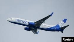 Самолет на беларуската държавна авиокомпания Белавиа