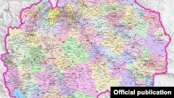 Плански региони и општини во Македонија. Извор: Министерство за локална самоуправа.