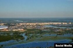 Паводок в Нефтеюганске. Фото Андрея Селезнева
