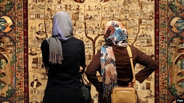 جشنواره فرش های دستباف در ایران.