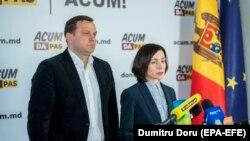 Liderii blocului ACUM, Andrei Năstase și Maia Sandu