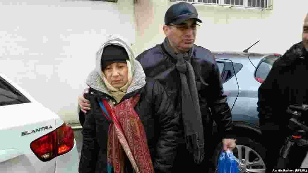 Azerbaijan. Baku. Leyla Yunus released from jail