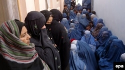 A new report says Afghanistan's criminal justice system has made little headway in protecting women's rights. (file photo)