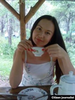 Чай в беседке. Снято в Алмаарасане. Алматы
