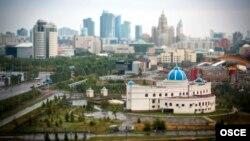 Есілдің сол жағалауындағы Астананың бизнес орталығы. (Көрнекі сурет)