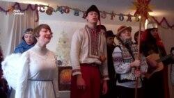 Львівський вертеп заколядував для дітей із зони АТО (відео)