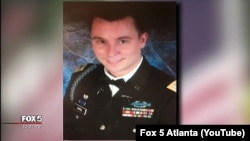 Кайл Тафэль, амэрыканскі вайсковец, які памёр у Беларусі. Кадр з рэпартажу Fox 5 Atlanta