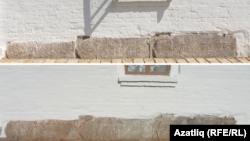 Успен чиркәве нигезендәге гарәп язулы кабер ташлары реставрациягә кадәр һәм аннан соң