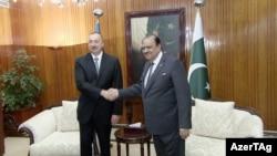 lham Əliyevin Pakistan prezidenti Mamnoon Hussain ilə görüşü. 28feb2017