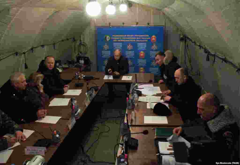 Putin attends an emergency meeting in Magnitogorsk on the tragedy.