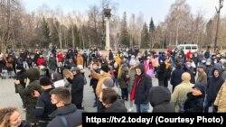 Акция в Томске, 21 апреля 2021