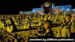 Выступление комузистов во время Всемирных игр кочевников.