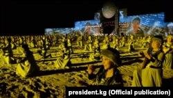 II Көчмөндөр оюндарынын ачылыш аземи. Ысык-Көл, 2016-жыл.