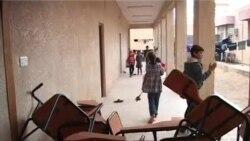 الأنبار: نازحون في مدرسة