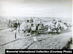 Work on a collective farm in the Kazakh S.S.R. in the 1930s
