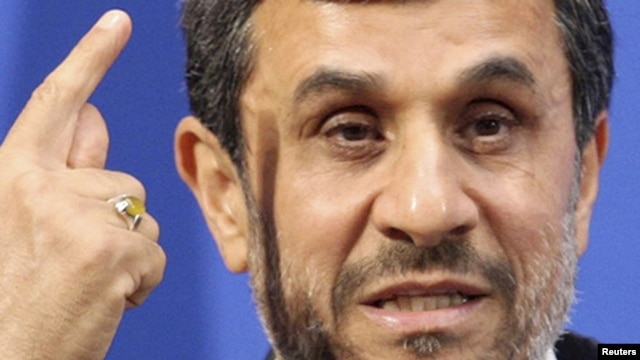 Iranian President Mahmud Ahmadinejad during a recent visit to Beijing University.