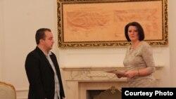 Presidentja Atifete Jahjaga dhe Arben Ahmeti