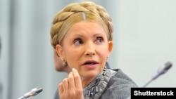 «Батьковщина» партиясы жетекшісі Юлия Тимошенко. Киев, 2 қазан 2015 жыл.