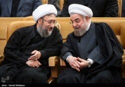 مجادله حسن روحانی و صادق لاریجانی بر سر بابک زنجانی و حسابهای قوه قضاییه