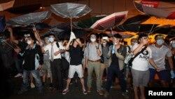 Протестувальники у Гонконгу, 14 жовтня 2014 року