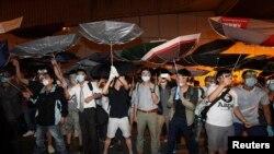 Protestuesit në Hong-Kong