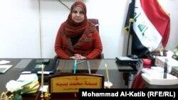 رئيسة مجلس قضاء الموصل بسمة محمد بسيم
