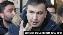 Mihail Saakașvili la Kiev cu cîteva zile în urmă