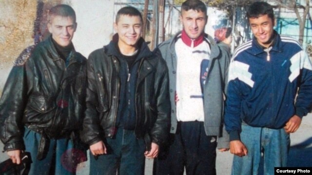 Rukniddin Shropov (second from right) is a former detainee at the U.S. facility at Guantanamo Bay.