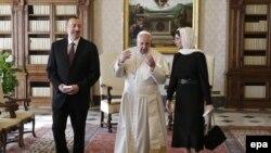 İlham Əliyev,Francis və Mehriban Əliyeva
