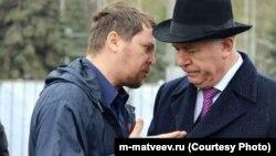 Кандидаты в губернаторы Самарской огбласти Михаил Матвеев и Николай Меркушкин