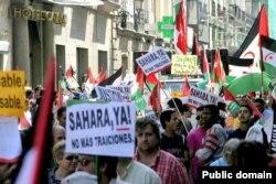 Демонстрация в поддержку независимости Западной Сахары в Мадриде. 2007 год