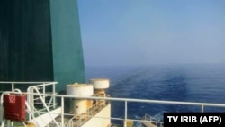 A picture released by Iranian State TV IRIB allegedly shows the Iranian crude oil tanker Sabiti sailing in the Red Sea, October 10, 2019