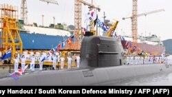 Подморницата од која е тестирана ракетата, фотографирана на 13 август 2021 година