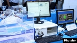 Armenia - Computers and other hi-tech equipment displayed at the annual Digitec exhibition in Yerevan, 5Oct2012.