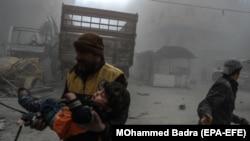 Ghouta de est, Siria, 23 februarie 2018