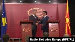 Predsednik Kosova i premijer Makedonije u Skoplju, 12. septembra