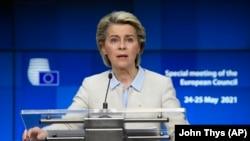 Европа комиссиянын башчысы Урсула фон дер Ляйен.