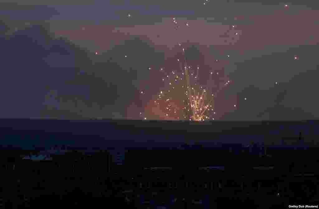 Скриншот видео взрыва.